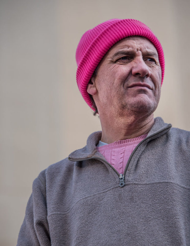 Older Man in Pussy Hat