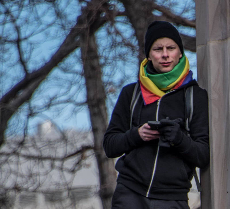 Guy in Colored Scarf