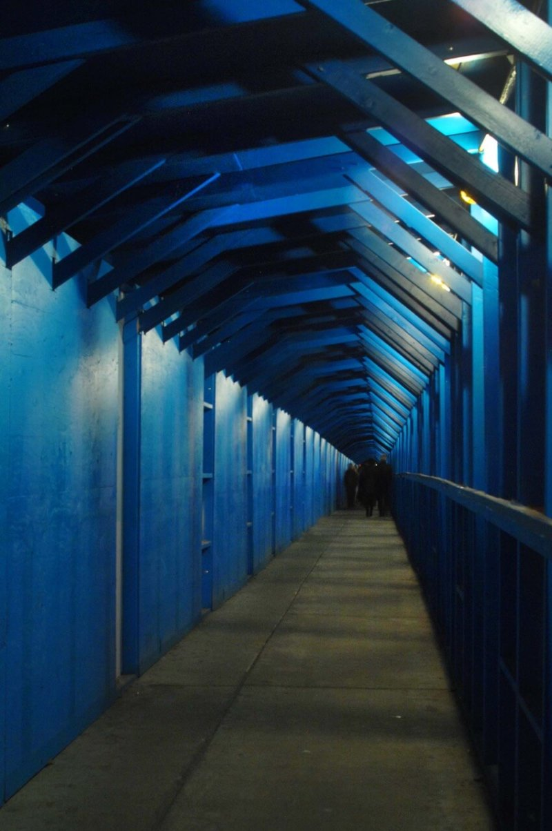 Blue Construction Tunnel