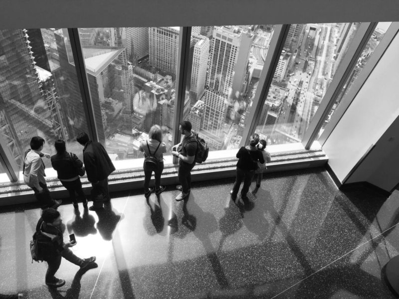 NYC - Inside One World Black and White